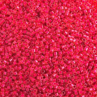 MIYUKI Delica 11-0 Luminous Poppy Red Neon 10g