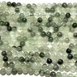 Natural Green Rutilated Quartz Gd A 6mm Rnd