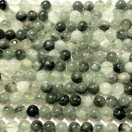 Natural Green Rutilated Quartz Gd A 8mm Rnd