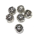 Tibetan Silver Dragonfly Pattern Bead 14.5mm 6/Pkg