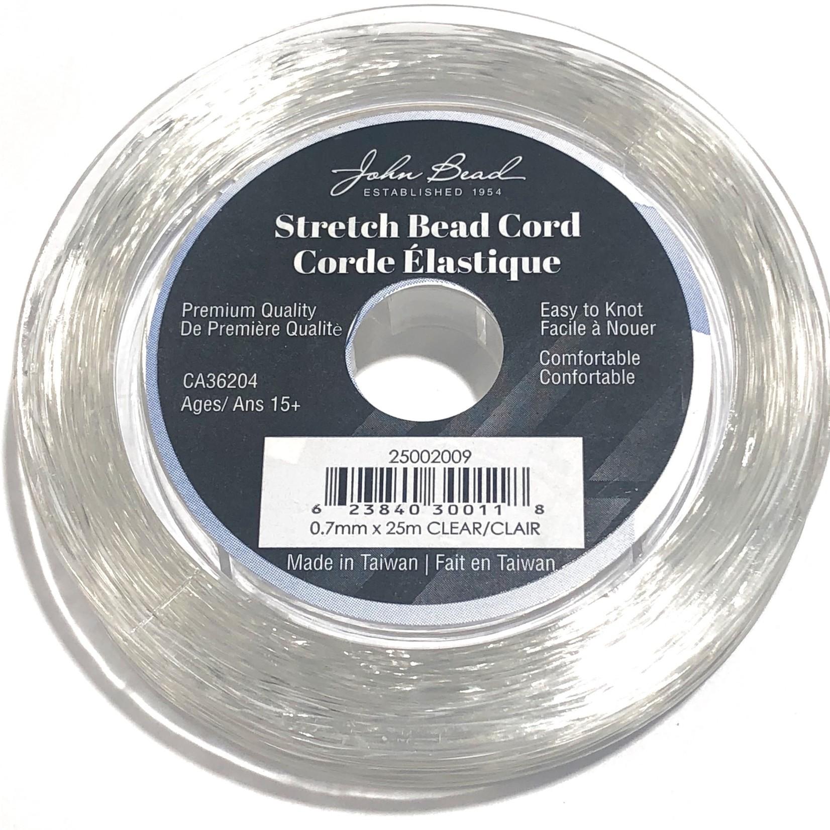 Elastic Stretch Bead Cord JB 0.7mm Clear 25m