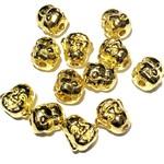 Tibetan Gold Alloy 10mm Buddha Head Bead 16pcs