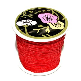Nylon Bead/Knot CORD 0.8mm/120m -Xmas Red