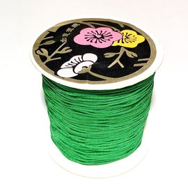 Nylon Bead/Knot CORD 0.8mm/120m - Xmas Green
