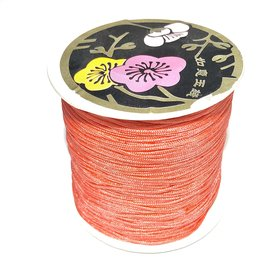 Nylon Bead/Knot CORD 0.8mm/120m - Salmon