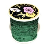 Nylon Bead/Knot CORD 0.8mm/120m - Dk Green