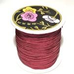 Nylon Bead/Knot CORD 0.8mm/120m - Burgundy