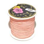 Nylon Bead/Knot CORD 0.8mm/120m - Lt Salmon