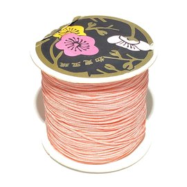 Nylon Bead/Knot CORD 0.8mm/120m - Lt Salmon