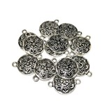 Tibetan Silver Alloy Snowflake Link/Connector 17mm 12pcs