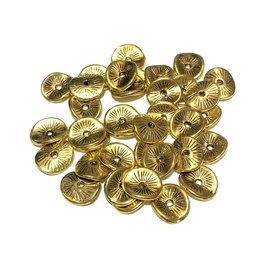 Antique Gold Plated 10mm Wavy Spacer Bead 50pcs