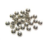 Antique Silver Alloy 5x2mm Flat Round Spacer Bead 60pcs
