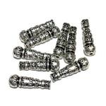 Tibetan Silver Alloy 22.5mm Tasbih Beads 12pcs