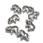 Tibetan Silver Alloy 8.5mm Elephant Bead 20pcs