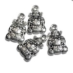 Tibetan Silver Alloy 18mm Chines God of Fortune Charm 12pcs