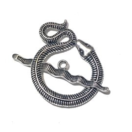 Tibetan SIlver Alloy 46mm Snake Toggle Clasp
