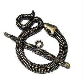 Tibetan Bronze Alloy 46mm Snake Toggle Clasp