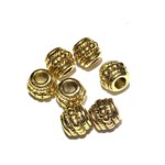 Tibetan Gold Alloy 8mm Spacer Bead 24pcs