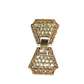 CZ Gold 38x20mm Fold Over CLASP