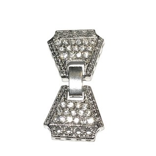 CZ Silver 38x20mm Fold Over CLASP