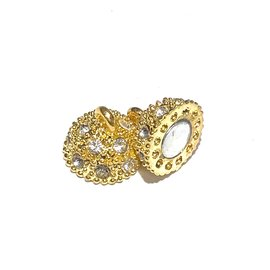 Magnetic CLASP 19x12mm Gold Plated Rhinestone