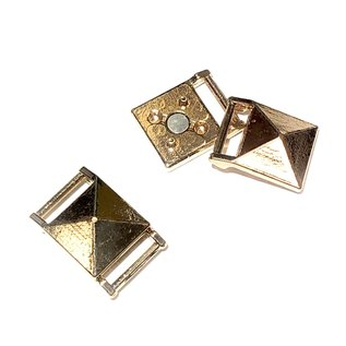 Gold Plated Pyramid Magnetic CLASP 21x14mm 2pc