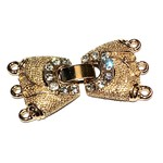 Gold Plated CZ 3-Strand Fold Over CLASP