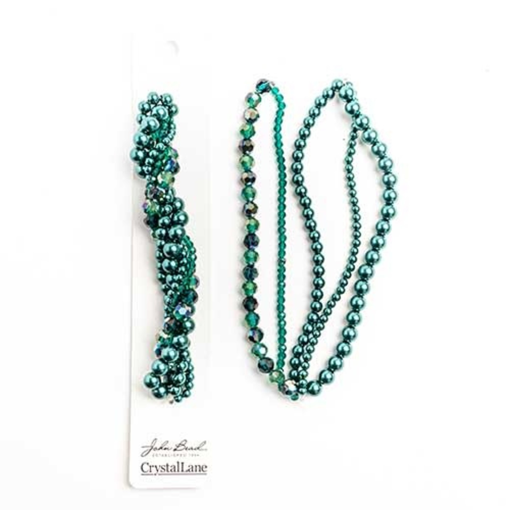 Crystal Lane Twisted Bead Strands Teal Hydrangea