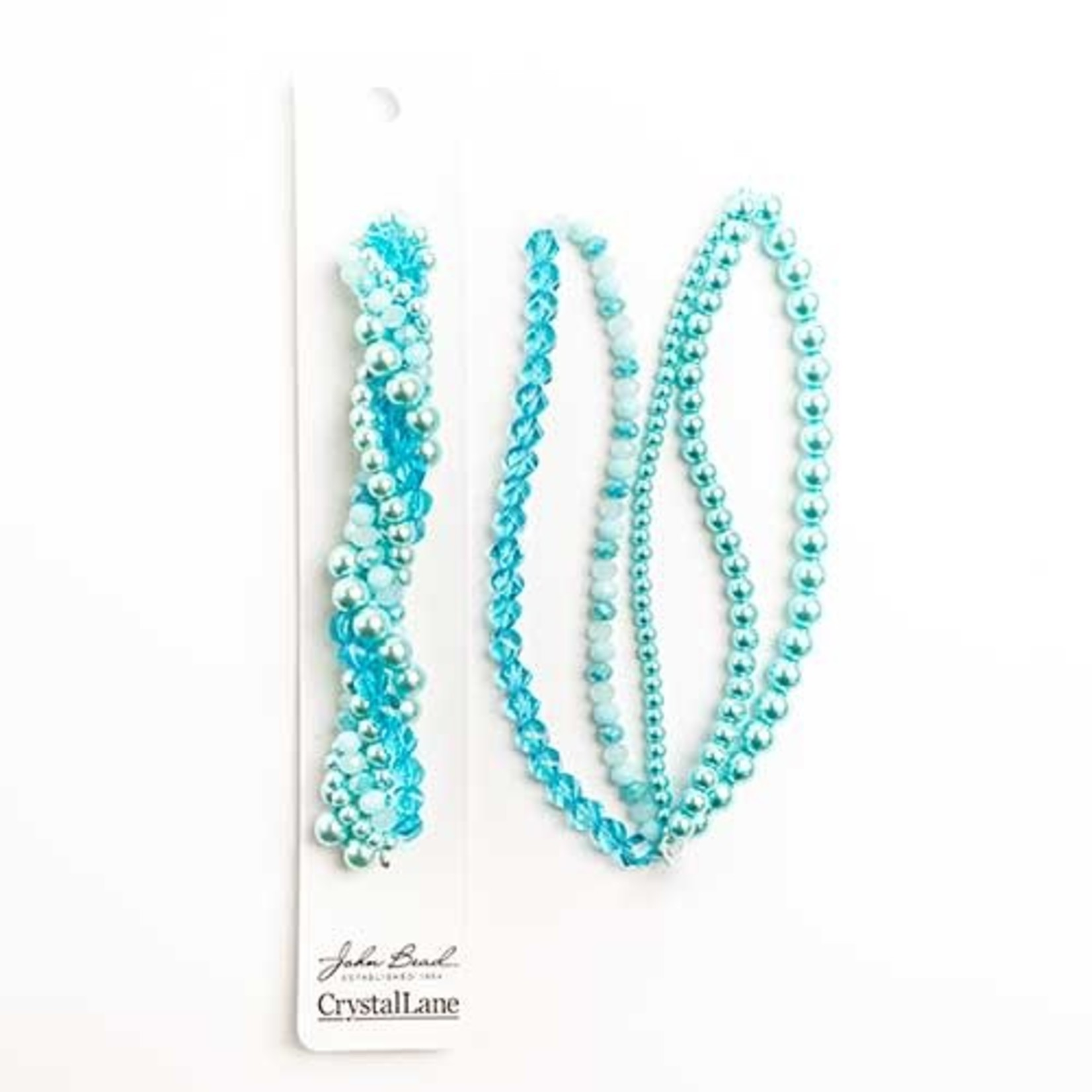 Crystal Lane Twisted Bead Strands Bell Flower