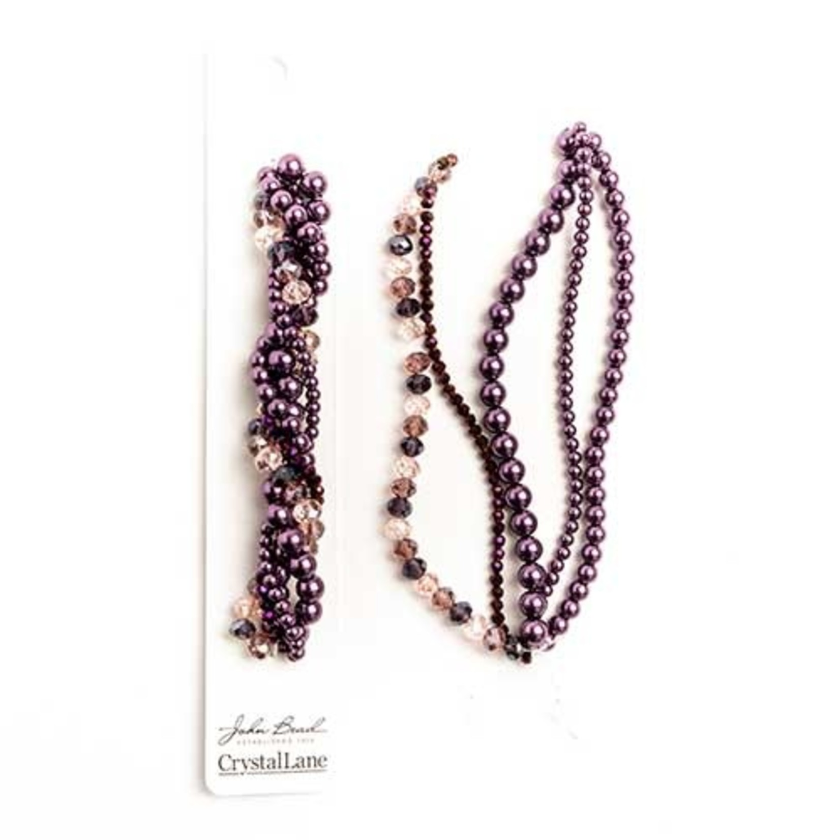 Crystal Lane Twisted Bead Strands Wisteria