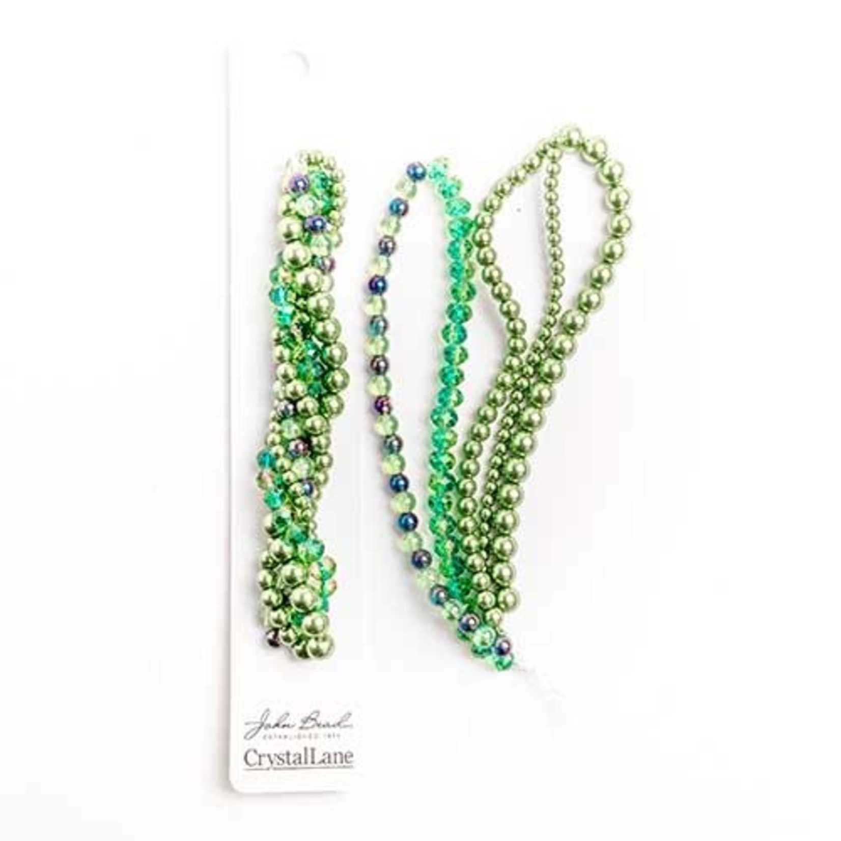 Crystal Lane Twisted Bead Strands Green Hydrangea