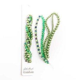 Crystal Lane Twisted Bead Strands Green Hydrangea
