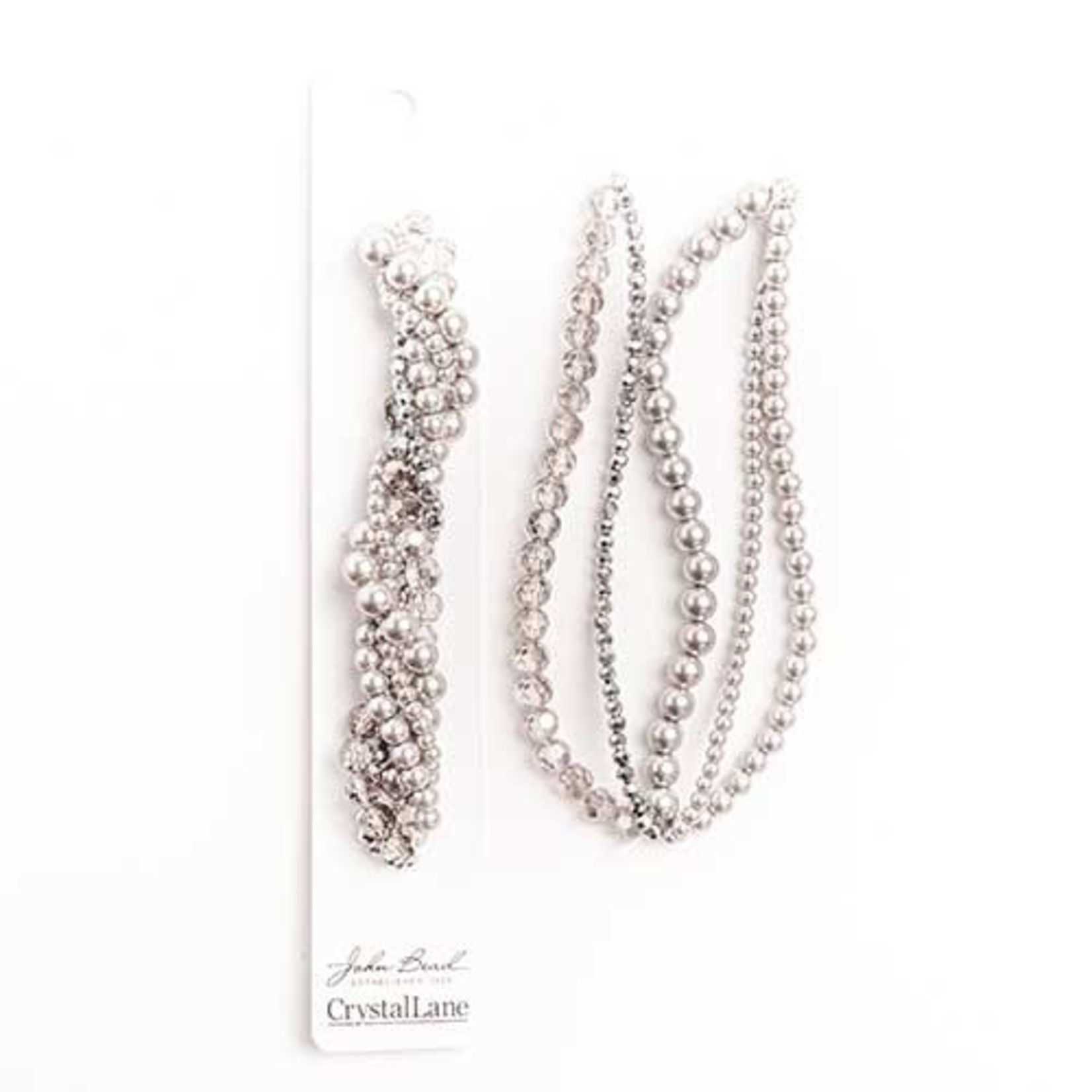 Crystal Lane Twisted Bead Strands Silver Brunia