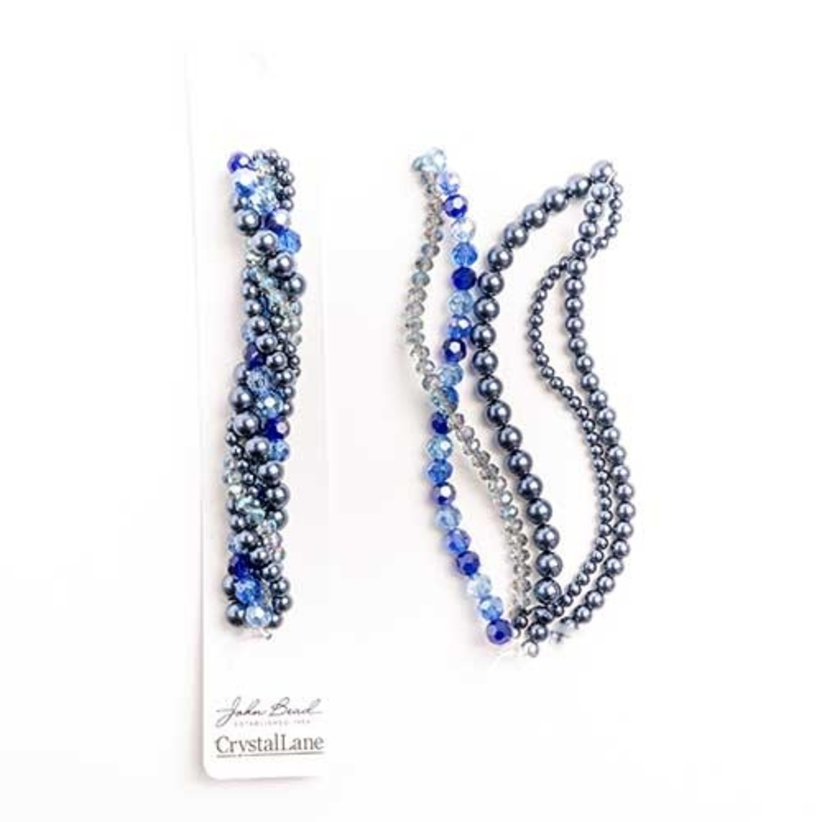 Crystal Lane Twisted Bead Strands Forget Me Knot