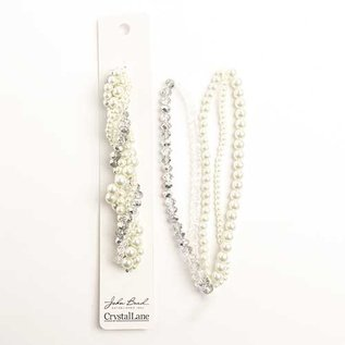 Crystal Lane Twisted Bead Strands Ranunculus