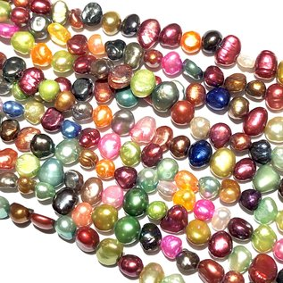 Fresh Water PEARL Dyed Assorted 5-7mm Nugget