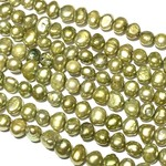 FRESH WATER PEARL Dyed Olive Green 6-7mm