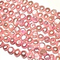 FRESH WATER PEARL Nuggets Candy Pink 6-7mm