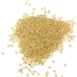 MIYUKI Rocaille 15-0 Matte Silver Lined Gold 10g
