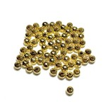 Gold Plated Metal Spacer Bead 4mm 250pcs