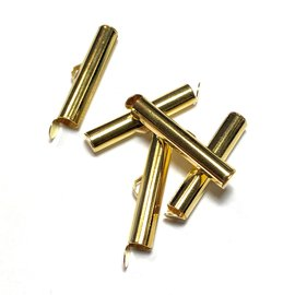 Gold Plated Slide End Clasp 26mm 12pcs