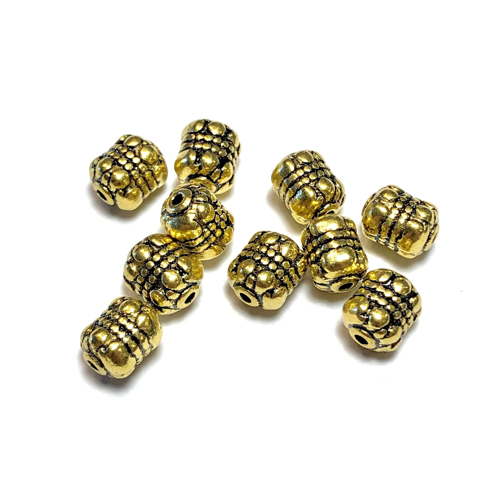 Antique Gold Plated 8x6mm Spacer Bead 24pcs