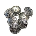 Carved Tibetan Silver Alloy 18mm Button 10pcs