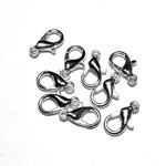Silver Plated 12mm Lobster Clasp 15pcs