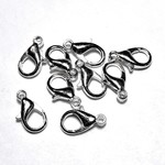 Silver Plated 15mm Lobster Clasp 12pcs