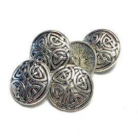 Tibetan Silver Alloy 17mm Celtic Pattern Button 12pcs