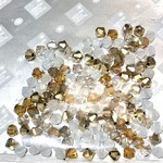 Preciosa Crystal 4mm Bicone MIX Honey Butter 144pcs