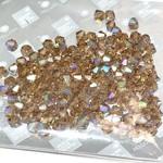 Preciosa Crystal 4mm Bicone Lt Colorado Topaz AB 144pcs