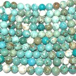 Magnesite Variegated Dyed Turquoise 8mm Round