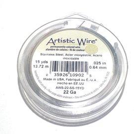 Artistic Wire Stainless Steel 22 Gauge 15 Yd